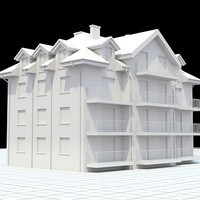 apartment building 3d lw