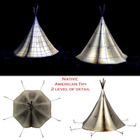 native american indian tipi 3d obj