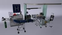 hospital lab 3d model
