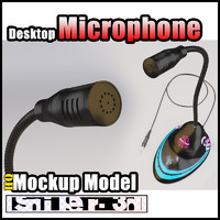 3d model desktop microphone
