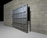 3d steel bunker door