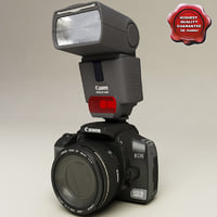 Canon EOS 400D and Canon Speedlite
