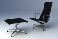 eames aluminium group lounge chair 3d max