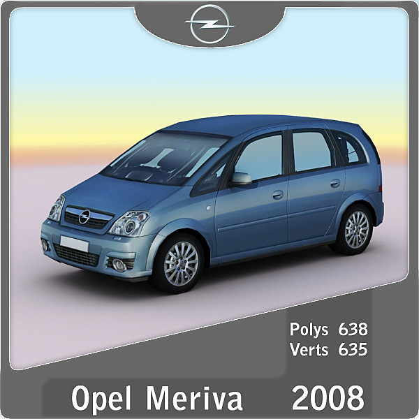 3d 2008 opel meriva. Black Bedroom Furniture Sets. Home Design Ideas