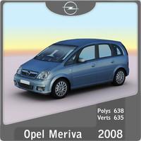 3d 2008 opel meriva