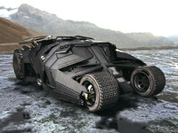 batmobil car 3d model
