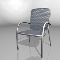 cinema4d plastic chair