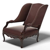 3d armchair chair pierre model
