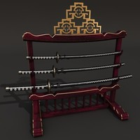 katana sword holder 3d model