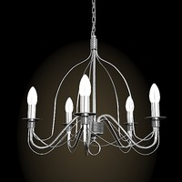 iron ikea chandelier