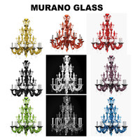 classic crystal murano glass chandelier barovier toso  5350/12 dhamar luxury  multicolor