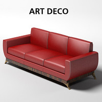 oak design art deco sofa 1010