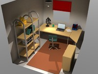 home office 3d model