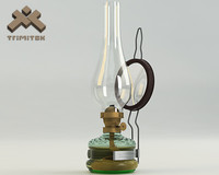 3d model of photorealistic oil lamp lights