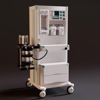 anaesthetic machine 3d obj