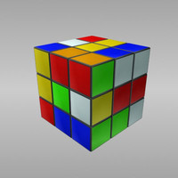 3d model toy ru-bik cube