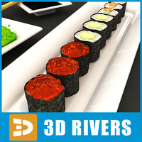 Sushi set  03 by 3DRivers