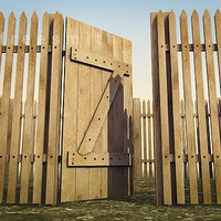 Wooden_Door_Fence.zip