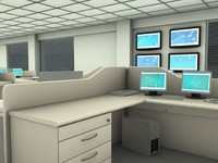3d office work model