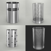 trash cans 3d model