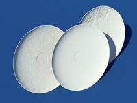 3 ceramic plates 3d max