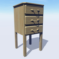 Pine chest of draws : Single