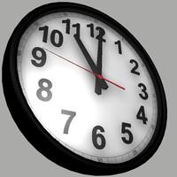 3d standard wall clock model