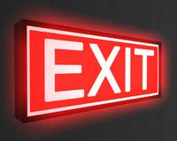 Exit sign.c4d