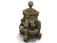 FOUNTAIN - Garden-Style; Stone / Ceramic