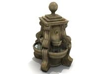 FOUNTAIN - Garden-Style; Stone / Ceramic