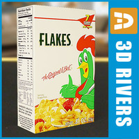 3d box corn flakes model