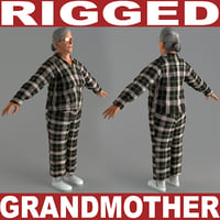 Grandmother V5 Rigged