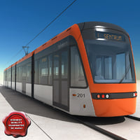 Low-floor light rail vehicle Variobahn Bybanen V3