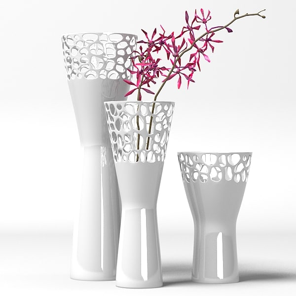 Modern home decor 3d model - Great decorative flower vase designs ...
