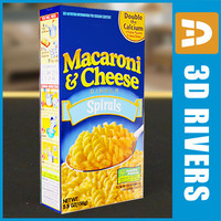 macaroni cheese box 3d model