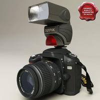 Nikon D80 and Sunpak PZ40X