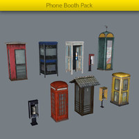 pack phone booth 3d model