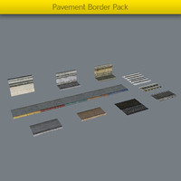 pack pavement borders 3d max