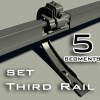 3d model of rail set