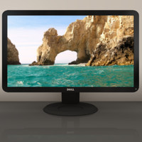 3d model 24in dell monitor
