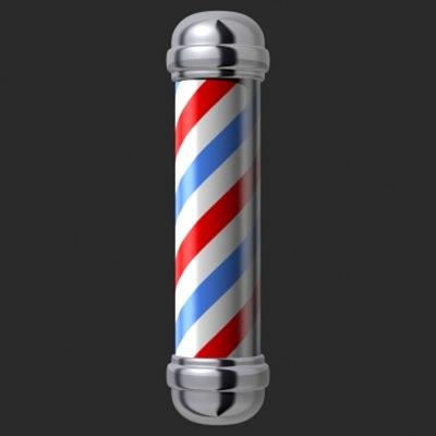 Animated Barber Pole maya barber pole