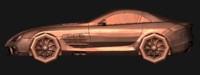 3d mercedes benz slr mclaren model