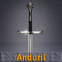 sword lord rings 3d model