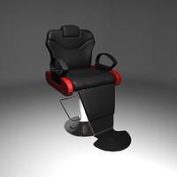 coiffeur chair 3d model