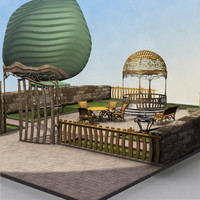 3d model garden b