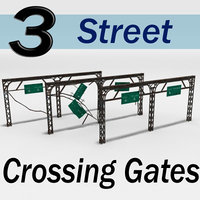 3ds max street crossing gates