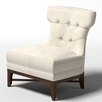 modern contemporary art deco thomasville1084 15 Nicole chair armless tufted small