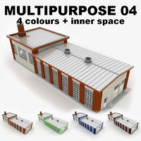 multipurpose industrial building 04 3d model