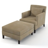 Modenature Charlotte chair & ottoman