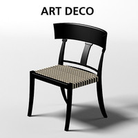 oak design art deco chair dining stool sc 1020